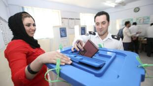 Les membres des services de sécurité du Kurdistan irakien ont voté dès jeudi 19 septembre – comme ici à Arbil - avant le vote général de ce samedi 21 septembre.