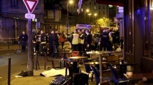 Ресторан Рetit Сambodge после обстрела вечером 13 ноября 2015