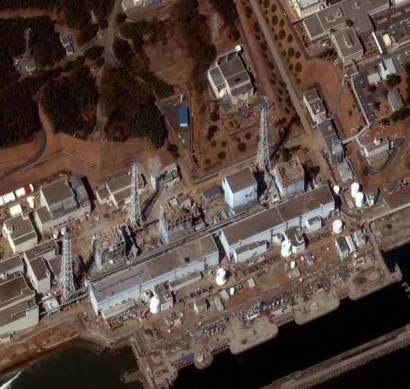 Vue aérienne de la centrale nucléaire de Fukushima, le 17 avril 2011.