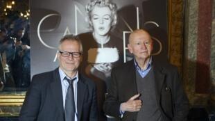 Thierry Frémaux, diretor geral, e Gilles Jacob, presidente do Festival de Cannes