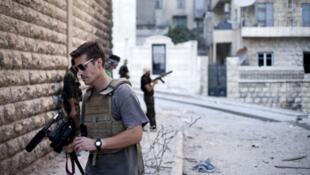El periodista James Foley en Siria, septiembre de 2012