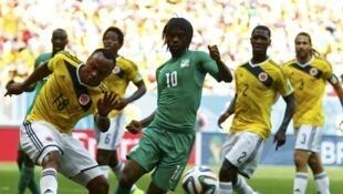 L'Ivoirien Gervinho face à la Colombie.