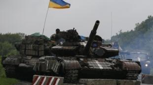 Танки украинской армии под Славянском 07/07/2014 (архив)