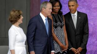 Shugaban Amurka Barack Obama a bikin bude gidan tarihin bakar fata a Washington