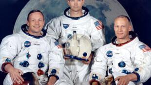 Phi hành đoàn Apollo 11: Neil A. Armstrong, Michael Collins và Edwin Aldrin, tháng 07/1969.