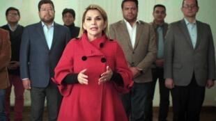 La présidente par intérim Jeanine Añez a annoncé jeudi 17 septembre qu'elle retirait sa candidature à la présidentielle bolivienne.