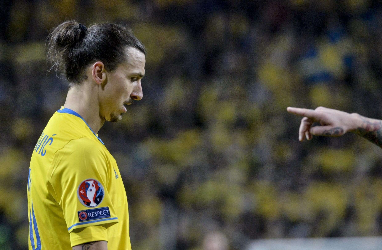 PSG star Zlatan Ibrahimovic scored for Sweden during their 2-1 win over Denmark.