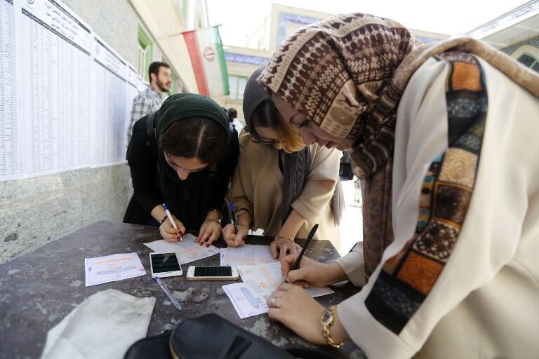 یک حوزه رأیگیری در جنوب تهران