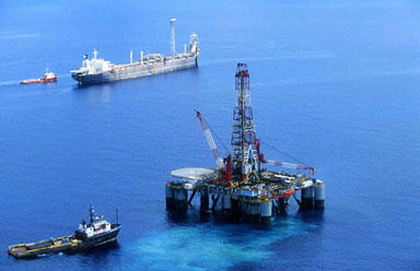 An oil rig in the Timor Sea