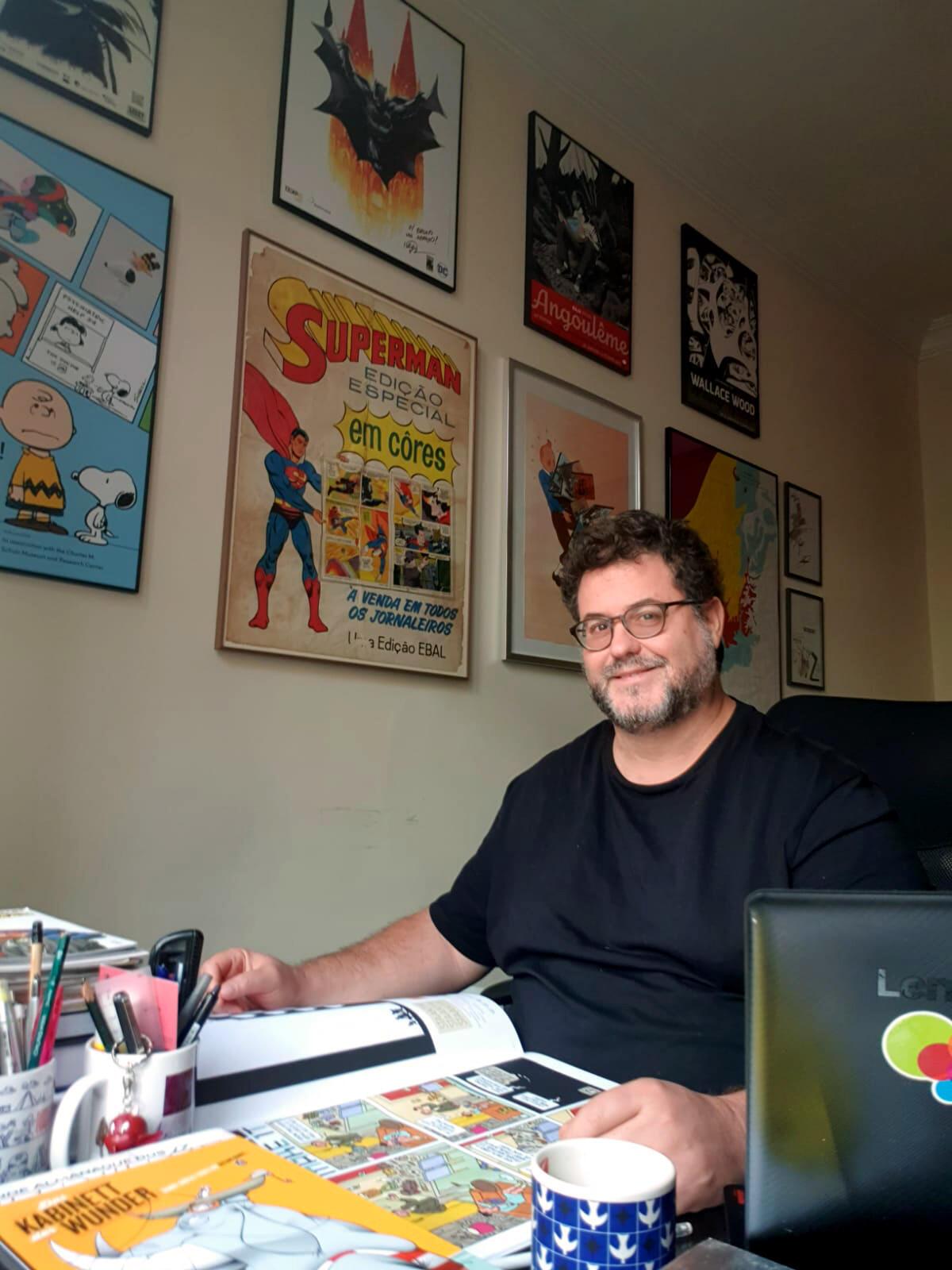 Designer e especialista em quadrinhos Bruno Porto