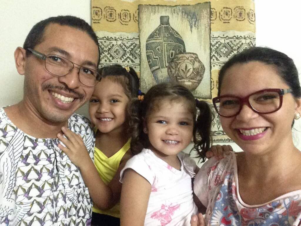 Cristiano com a família