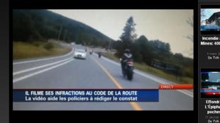 Les vidéos enregistrées sur sa moto ont été utilisées pour faire le décompte des infractions