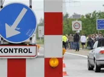Puesto fronterizo alemán.