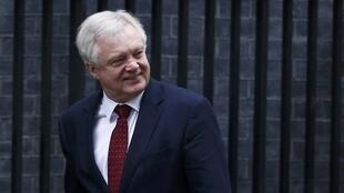 Le ministre chargé du Brexit, David Davis, le 31 janvier 2017, devant le Parlement.