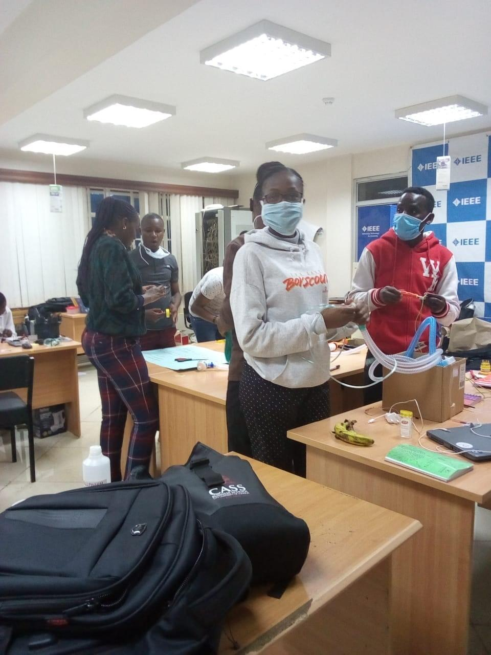 The student team at Kenyatta University say they are capable of producing fifty ventilators per fortnight.
