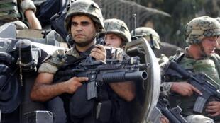 Soldados libaneses en Beirut, el 22 de octubre de 2012.