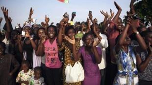 Cotonou, le 19 novembre 2011: le pape a appelé les responsables africains à ne pas priver leurs peuples de «l'espérance».