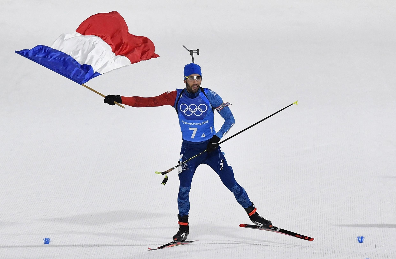 Le biathlète français Martin Fourcade repart des JO de Pyeongchang avec trois médailles d'or.