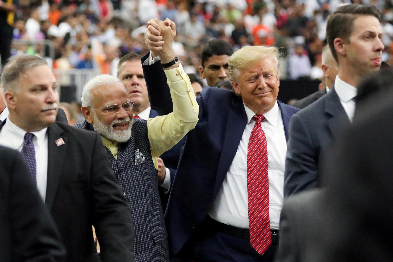 Tổng thống Mỹ Donald Trump tham gia buổi chào mừng thủ tướng Modi tại Houston, Texas, 22/09/2019.