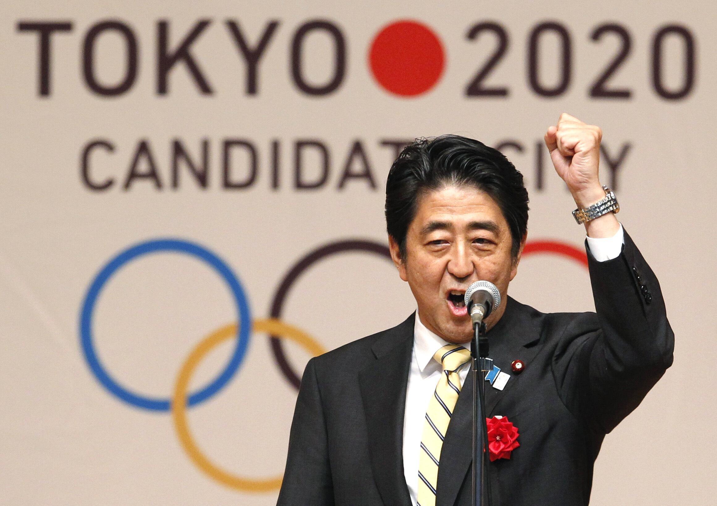 Le Premier ministre du Japon, Shinzo Abe, lors de la dernière présentation de la candidature de Tokyo, le 23 août 2013.