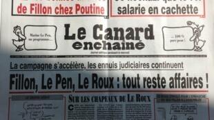 """O """"Canard enchainé"""" desta semana"""