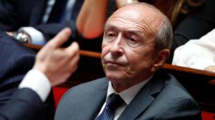 Gérard Collomb alors qu'il était ministre de l'Intérieur, le 12 septembre 2018 à l'Assemblée nationale.