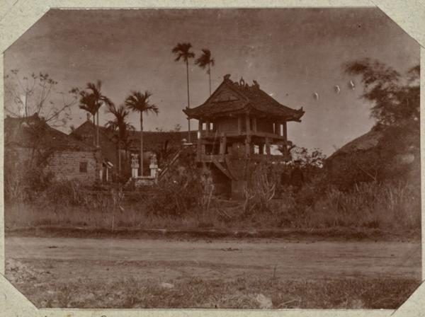 Chùa Một Cột, Hà Nội. Ảnh chụp khoảng năm 1895-1899.
