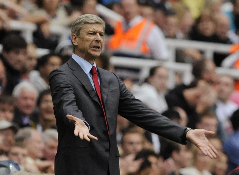 L'entraîneur français d'Arsenal, Arsène Wenger.