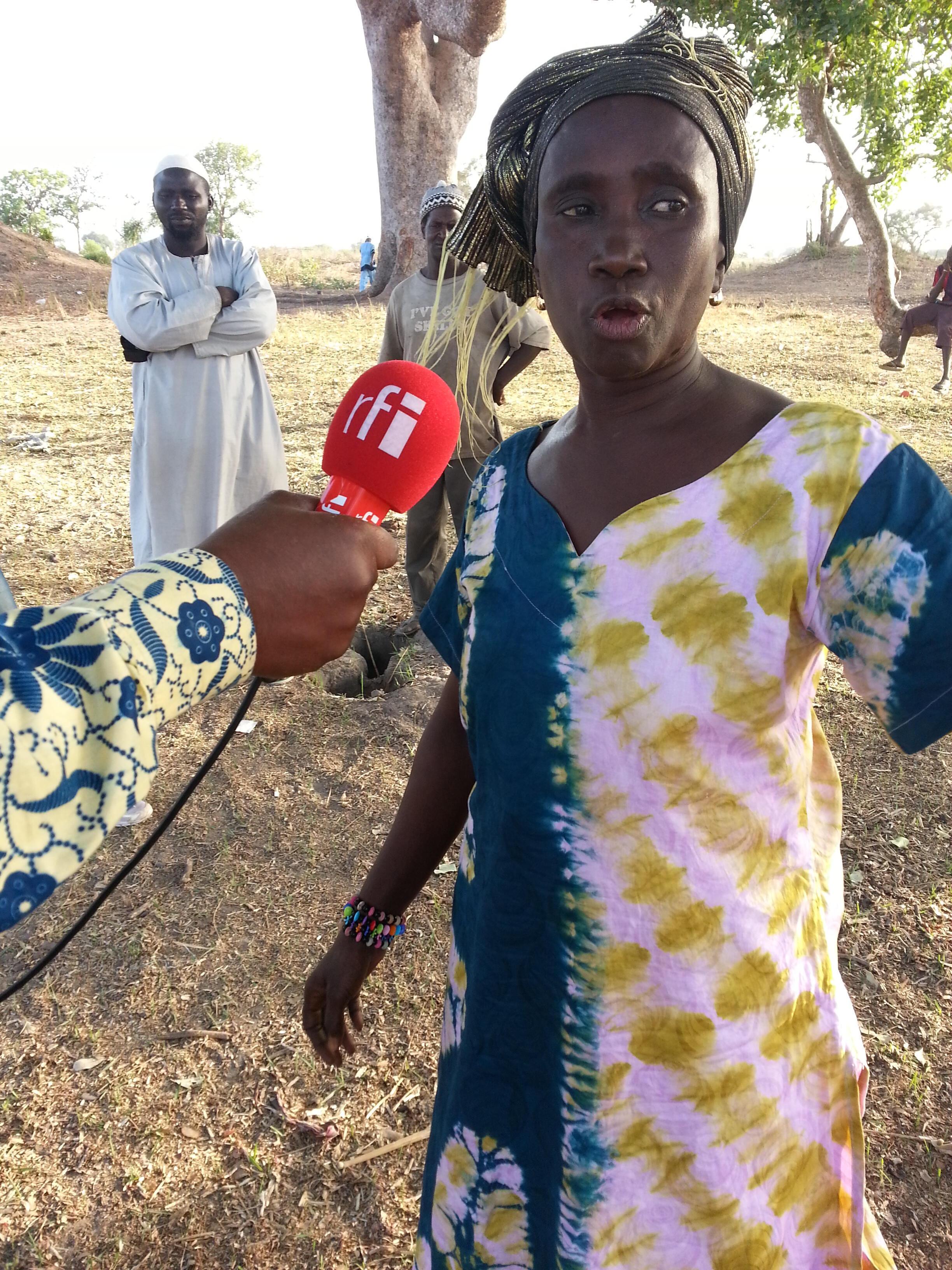 Fatou Senghor, trésorière du groupement des producteurs du village.