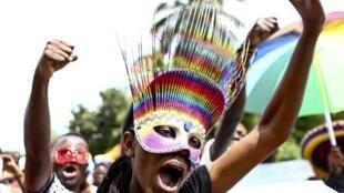Lors de la précédente Gay Pride en Ouganda, le 9 août 2015.