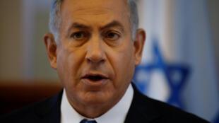 Le Premier ministre israélien Benyamin Netanyahu lors du conseil hebdomadaire des ministres, le 8 mai 2016.