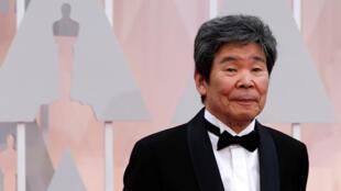 Le studio d'animation Ghibli a confirmé le 6 avril 2018 le décès du réalisateur Isao Takahata, à l'âge de 85 ans. Ici, en février 2015 lors des Academy Awards à Hollywood.