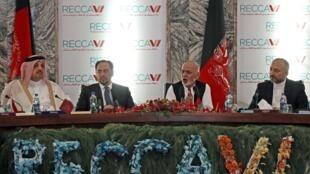 Presidente afegão, Ashraf Ghani, durante a Conferência de Doadores em Cabul.