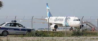 Avião da Egyptair em Chipre