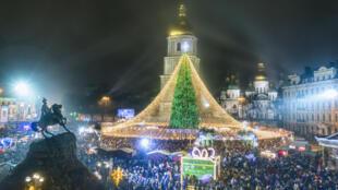 Новогодняя ночь в Киеве. 01.01.2021