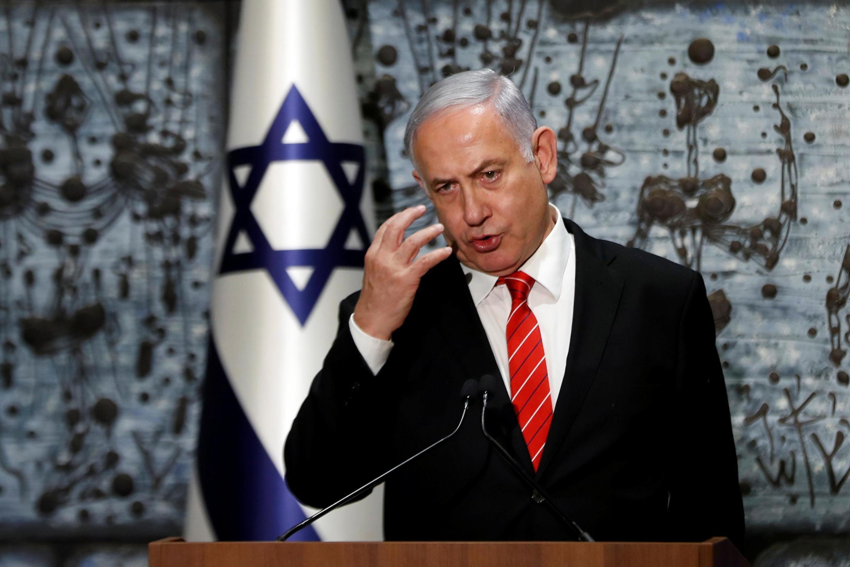 Franministan Isra'ila Benyamin Netanyahu yayin wani jawabi ga 'yan kasar