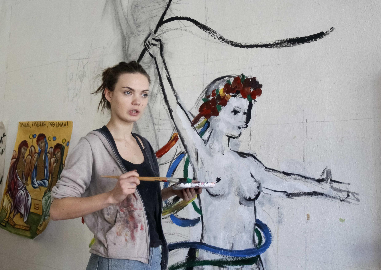 Одна из основательниц FEMEN Оксана Шачко
