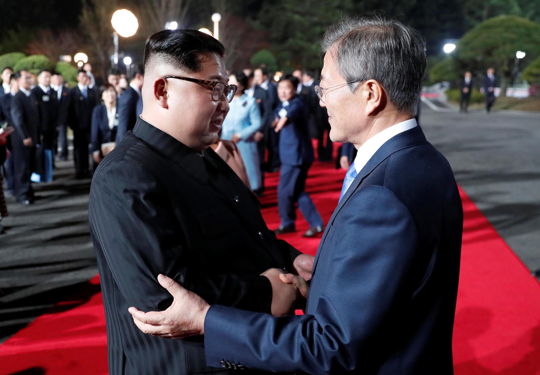 韓國與朝鮮領導人在板門店會晤 2018年4月27日