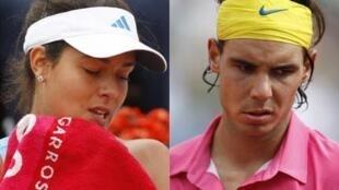 Ana Ivanovic et Rafael Nadal sortis en 8es de finale de Roland Garros 2009.