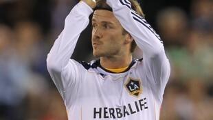 O jogador britânico David Beckham.