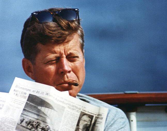 Cố tổng thống Mỹ John F. Kennedy trong một bức ảnh không đề ngày tháng.