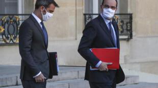 Le Premier ministre, Jean Castex, et le ministre de la Santé, Olivier Véran, le 4 novembre 2020.