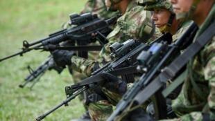 Des soldats colombiens dans la municipalité de Tumaco le 14 avril 2018. (Image d'illustration)