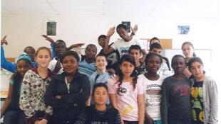 les élèves de la classe d'accueil du collège Paul Painlevé de Sevran