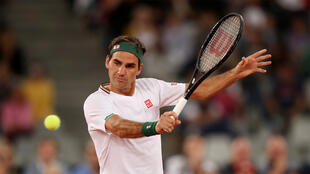 Roger Federer contre Rafael Nadal, pendant «The Match in Africa», le 7 février 2020.