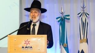Le grand rabbin de la mutuelle argentine Amia, Gabriel Davidovich, le 20 avril 2018.