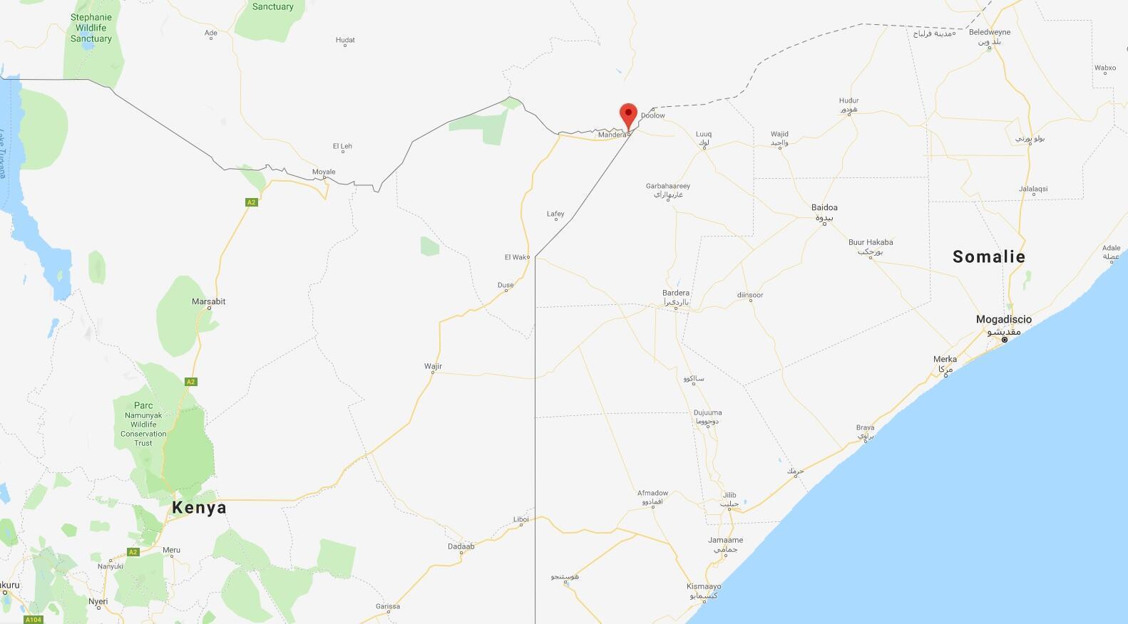 Mji wa Mandera unapatikana Kaskazini mwa Kenya kwenye mpaka na Somalia na Ethiopia.