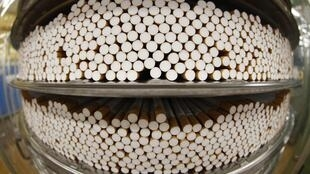 Cigarettes during the manufacturing process