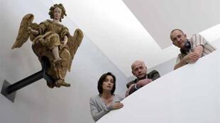 Kristin Scott Thomas, Laurent Grévill et Philippe Claudel (de g. à dr.).
