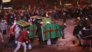 Столкновения в Киеве 19 января 2014